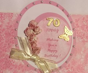 Hugs 'n' Kisses 70th Birthday Milestone Card
