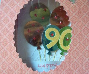 Hugs 'n' Kisses 90th Birthday Milestone Card
